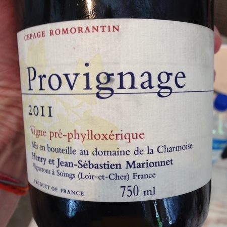 Henry Marionnet (Domaine de la Charmoise) Provignage Romorantin 2011