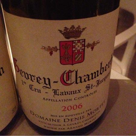 Domaine Denis Mortet Lavaux St. Jacques Gevrey-Chambertin 1er Cru Pinot Noir 2006