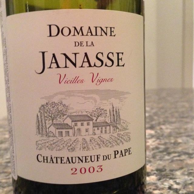 Domaine de la Janasse Vieilles Vignes Châteauneuf-du-Pape Red Rhone Blend 2003