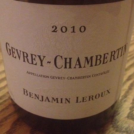 Benjamin Leroux Gevrey-Chambertin Pinot Noir 2014