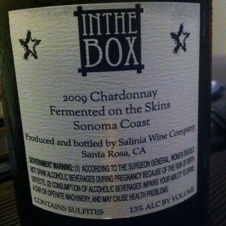 Salinia Wine Company In the Box Sonoma Coast Chardonnay 2009