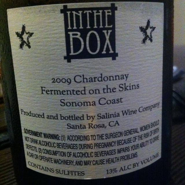 In the Box Sonoma Coast Chardonnay 2009