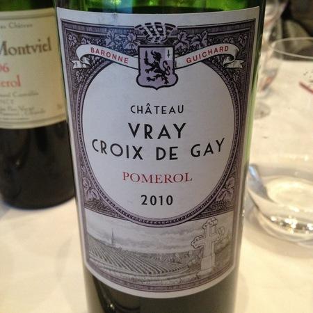 Château Vray Croix de Gay Pomerol Red Bordeaux Blend 2010