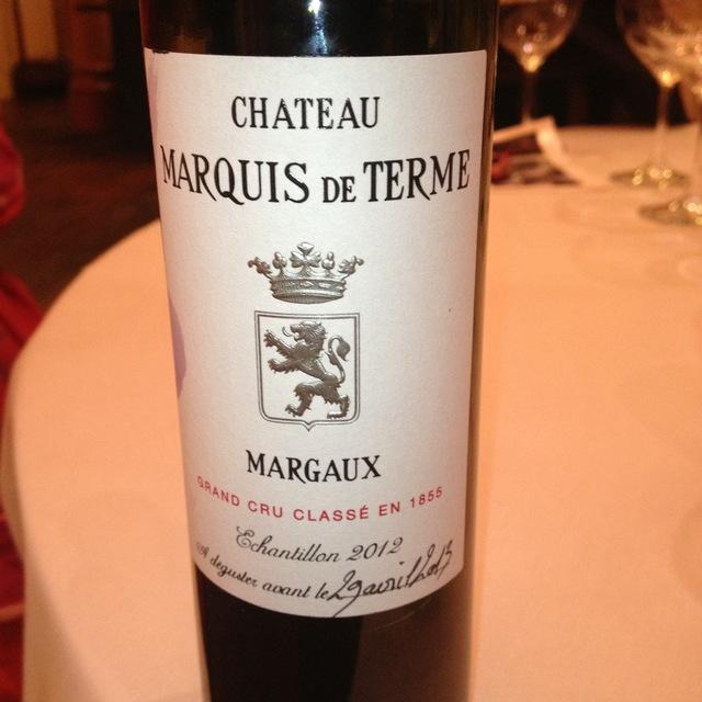 Château Marquis de Terme Margaux Red Bordeaux Blend 2012