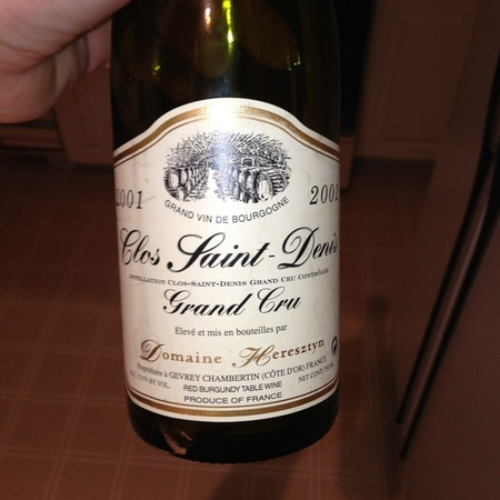 Domaine Heresztyn Clos St. Denis Grand Cru Pinot Noir 2001