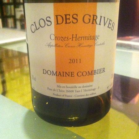Domaine Combier Clos des Grives Crozes-Hermitage Marsanne – Roussanne  Blend 2015