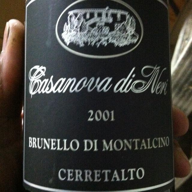 Casanova di Neri Cerretalto Brunello di Montalcino Sangiovese 2001