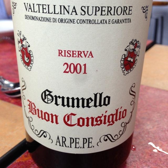 ARPEPE Riserva Buon Consiglio Grumello Valtellina Superiore Nebbiolo 2005