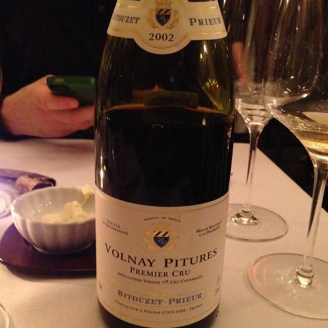 Bitouzet-Prieur Pitures Volnay 1er Cru Pinot Noir 2002