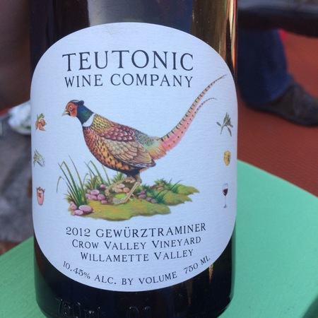 Teutonic Wine Company Crow Valley Vineyard Gewurztraminer 2015