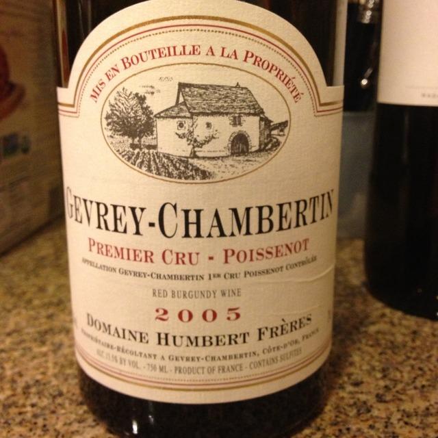 Poissenot Gevrey-Chambertin 1er Cru Pinot Noir 2012