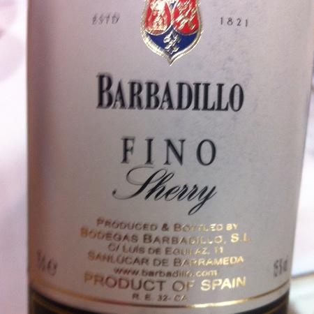 Bodegas Barbadillo Fino Sherry Jerez-Xérès-Sherry Palomino FIno NV