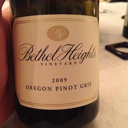 Bethel Heights Oregon Pinot Gris 2015