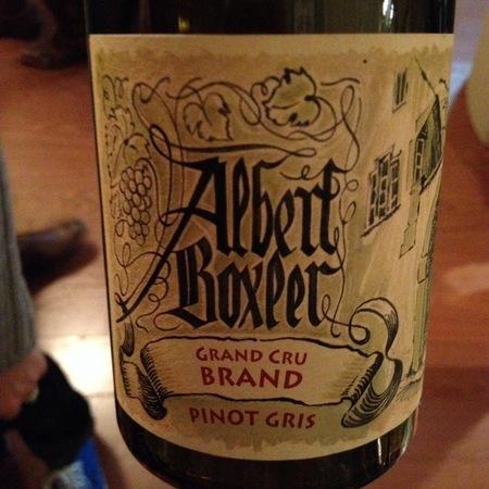 Albert Boxler Grand Cru Brand Pinot Gris 2011