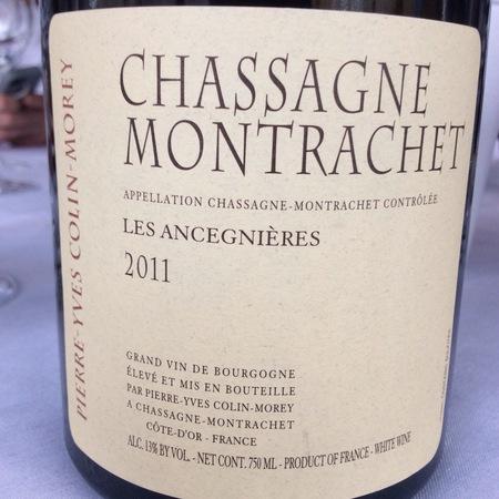 Pierre-Yves Colin-Morey Les Ancegnières Chassagne-Montrachet Chardonnay 2014