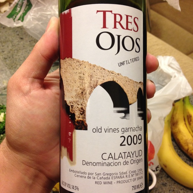 Tres Ojos Unfiltered Calatayud Old Vines Garnacha 2013
