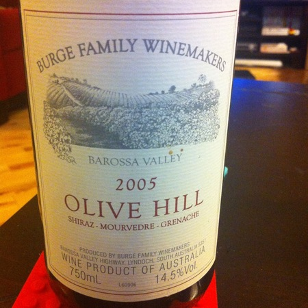 Burge Family Winemakers Olive Hill Shiraz Blend 2002