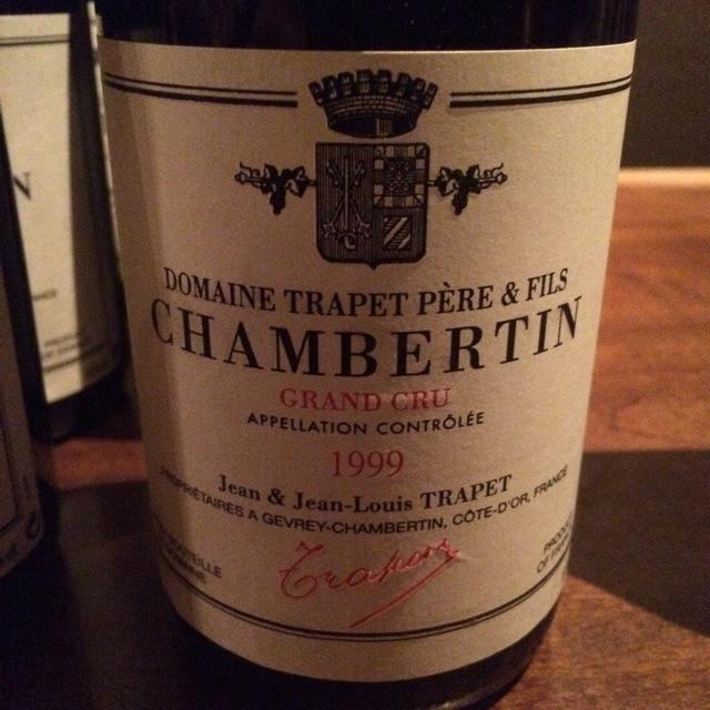 Chambertin Grand Cru Pinot Noir 1999