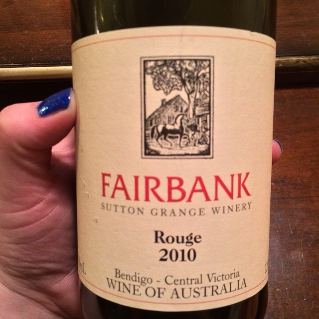 Fairbank Rouge Red Blend 2010
