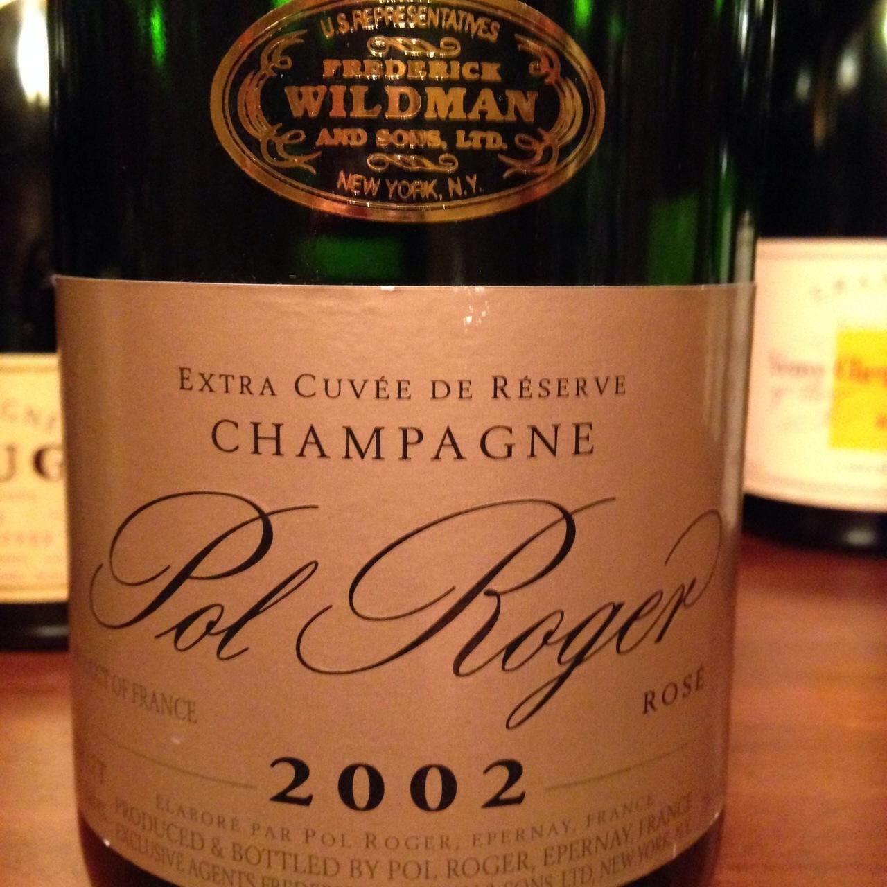 Pol Roger Extra Cuvée de Réserve Brut Rosé Champagne Blend 2002