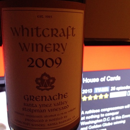 Whitcraft Winery Stolpman Vineyard Grenache 2014