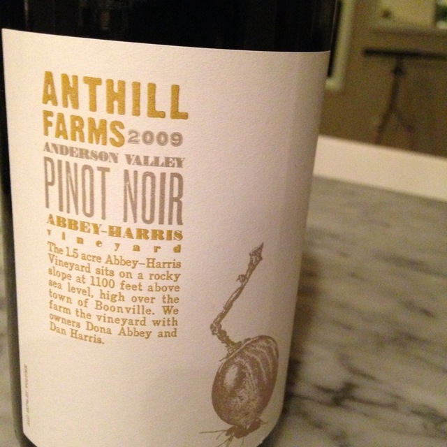 Anthill Farms Abbey-Harris Vineyard Pinot Noir 2015