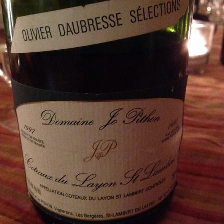 Domaine Jo Pithon Coteaux du Layon Saint-Lambert 1997