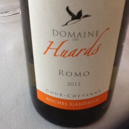 Domaine des Huards (Michel Gendrier) Romo Cour-Cheverny Romorantin 2014