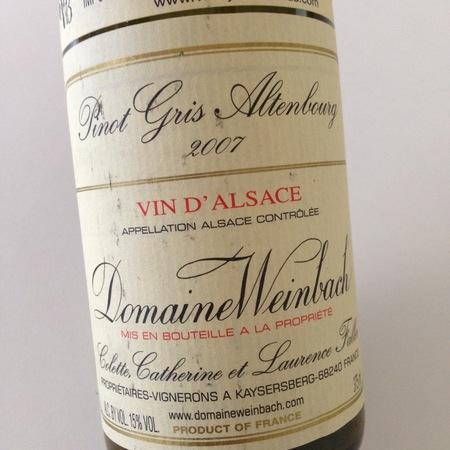 Domaine Weinbach Altenbourg Pinot Gris 2015