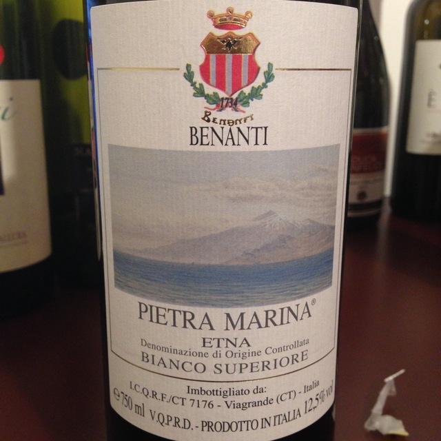 Benanti Pietra Marina Etna Bianco Superiore Carricante 2013