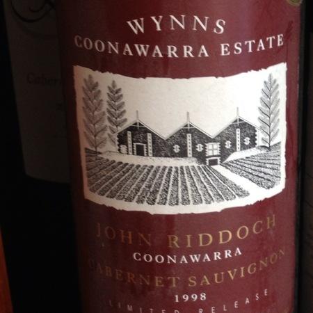 Wynns Coonawarra Estate John Riddoch Limited Release Cabernet Sauvignon 1998