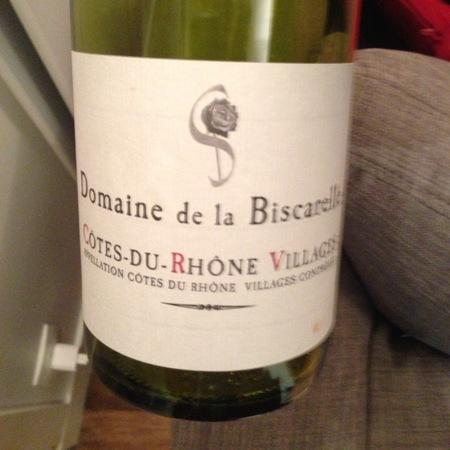 Domaine de la Biscarelle Côtes-du-Rhône Villages Red Rhone Blend 2015