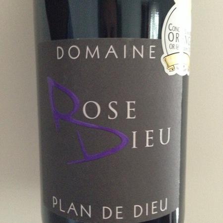 Domaine Rose-Dieu Côtes du Rhône Villages Plan de Dieu 2014