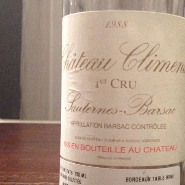 Barsac 1er Cru Sémillon-Sauvignon Blanc Blend 1988