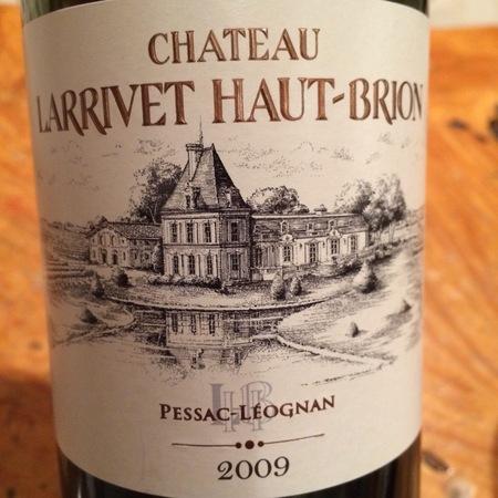 Château Larrivet Haut-Brion Pessac-Léognan Red Bordeaux Blend 2009