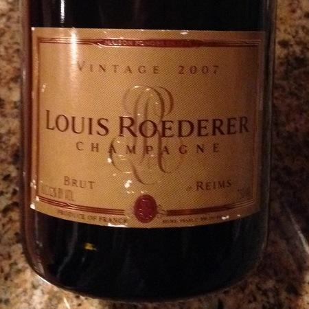 Louis Roederer  Brut Vintage Champagne Blend 2007