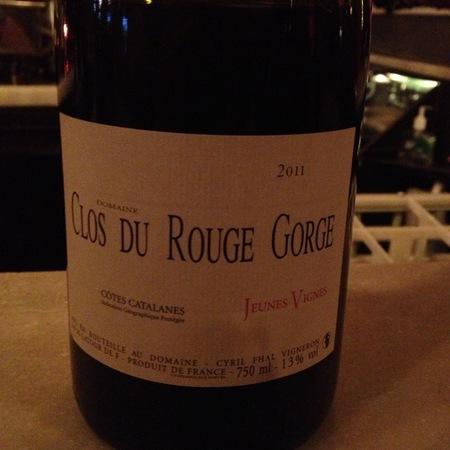 Domaine Clos du Rouge Gorge (Cyril Fhal) Jeunes Vignes Vin de Pays des Côtes Catalanes Grenache 2015