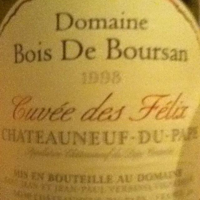 Domaine Bois de Boursan Cuvée des Félix Châteauneuf-du-Pape Red Rhône Blend 1998