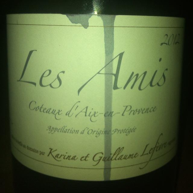 Karina et Guillaume Lèfevre (Chateau Sulauze) Les Amis Coteaux d'Aix-en-Provence Grenache Syrah 2016