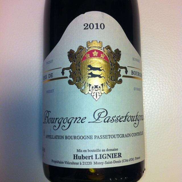Bourgogne Passetoutgrains Gamay Pinot Noir 2014