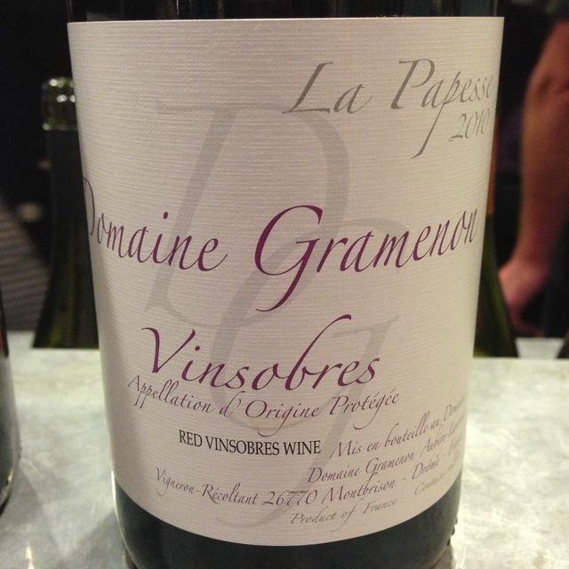 Domaine Gramenon La Papesse Vinsobres Grenache 2014