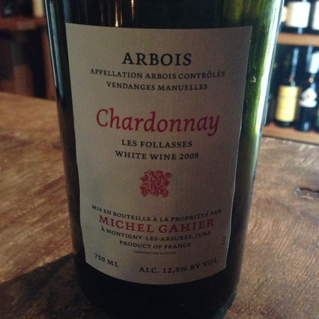 Michel Gahier Les Follasses Arbois Chardonnay 2015