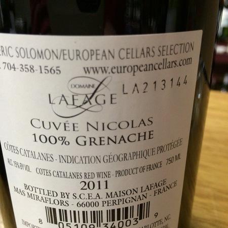 Domaine Lafage Cuvée Nicolas Côtes Catalanes Grenache 2014