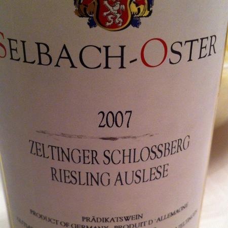 Selbach-Oster Zeltinger Schlossberg Auslese Riesling 2015