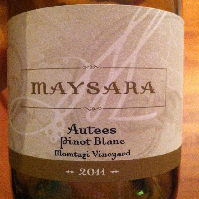 Maysara Winery Autees Momtazi Vineyard Pinot Blanc 2015