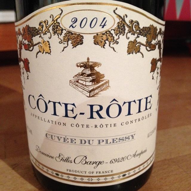 Cuvée du Plessy Côte-Rôtie Syrah 2005