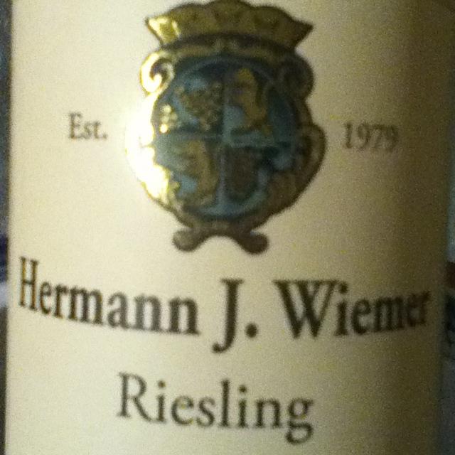 Hermann J. Wiemer Finger Lakes Dry Riesling 2016