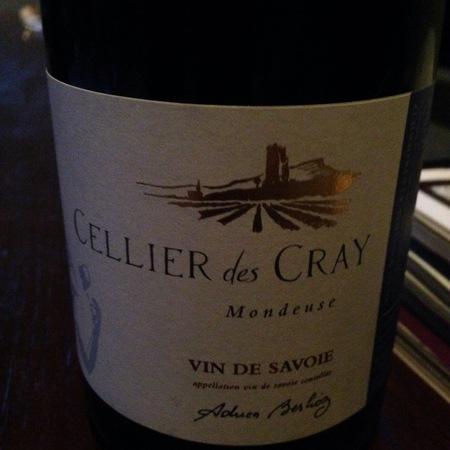 Celliers des Cray Vin de Savoie Mondeuse Noir 2015