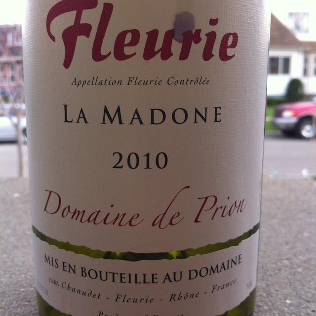 Domaine de Prion La Madone Fleurie Gamay 2014