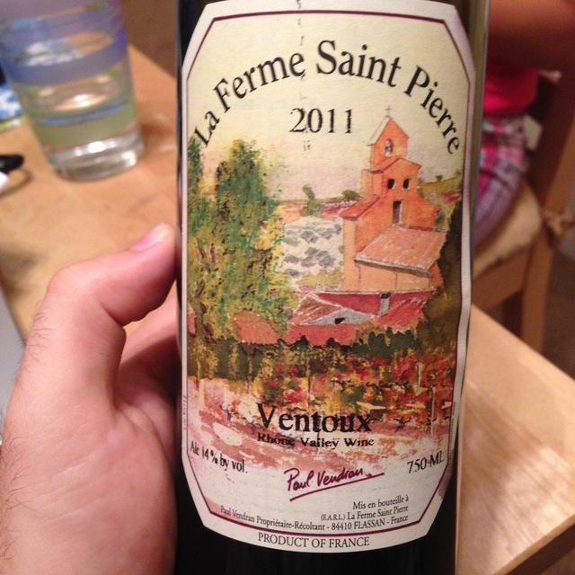 La Ferme Saint-Pierre Ventoux Red Rhone Blend 2014